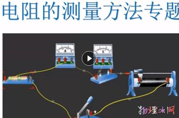 [课堂视频]初中物理《初中物理电阻测量方法专题》